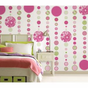 WallPops Gone Dotsty Pink Green Decal - Set of 168