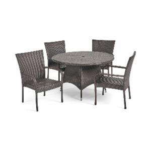Best Selling Home Decor Furniture Potter Wicker 5 Piece Round Patio Dining Set