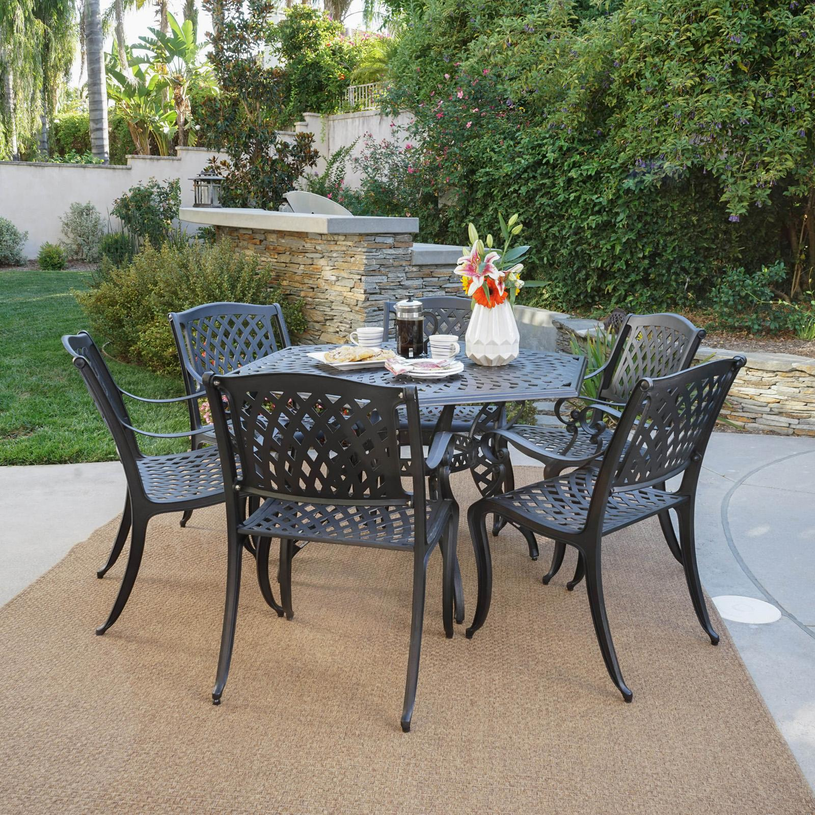 Best Selling Home Spencer Aluminum 7 Piece Hexagon Patio