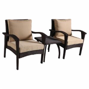 Best Selling Home Decor Furniture Diana 3 Piece Arm Chair Set with Cushion