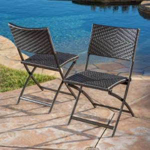 Best Selling Home Decor Furniture Faith Folding Outdoor Bistro Chair - Set of 2