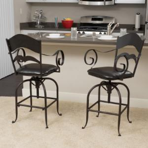 Best Selling Home Adjustable Height Swivel Bar Stool - Set of 2
