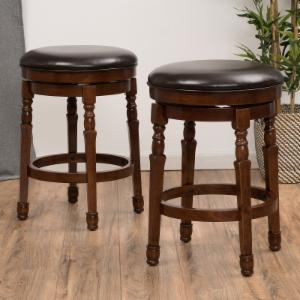 Best Selling Home 25.6 in. Swivel Counter Stool - Set of 2
