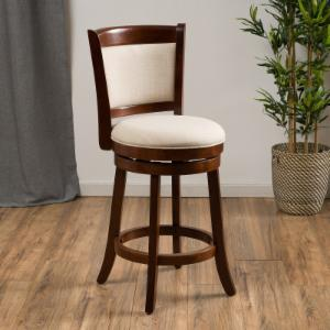 Best Selling Home Bryan 25 in. Fabric Swivel Bar Stool