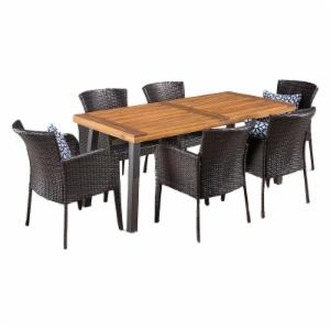 Best Selling Home Arica Wicker 7 Piece Patio Dining Set