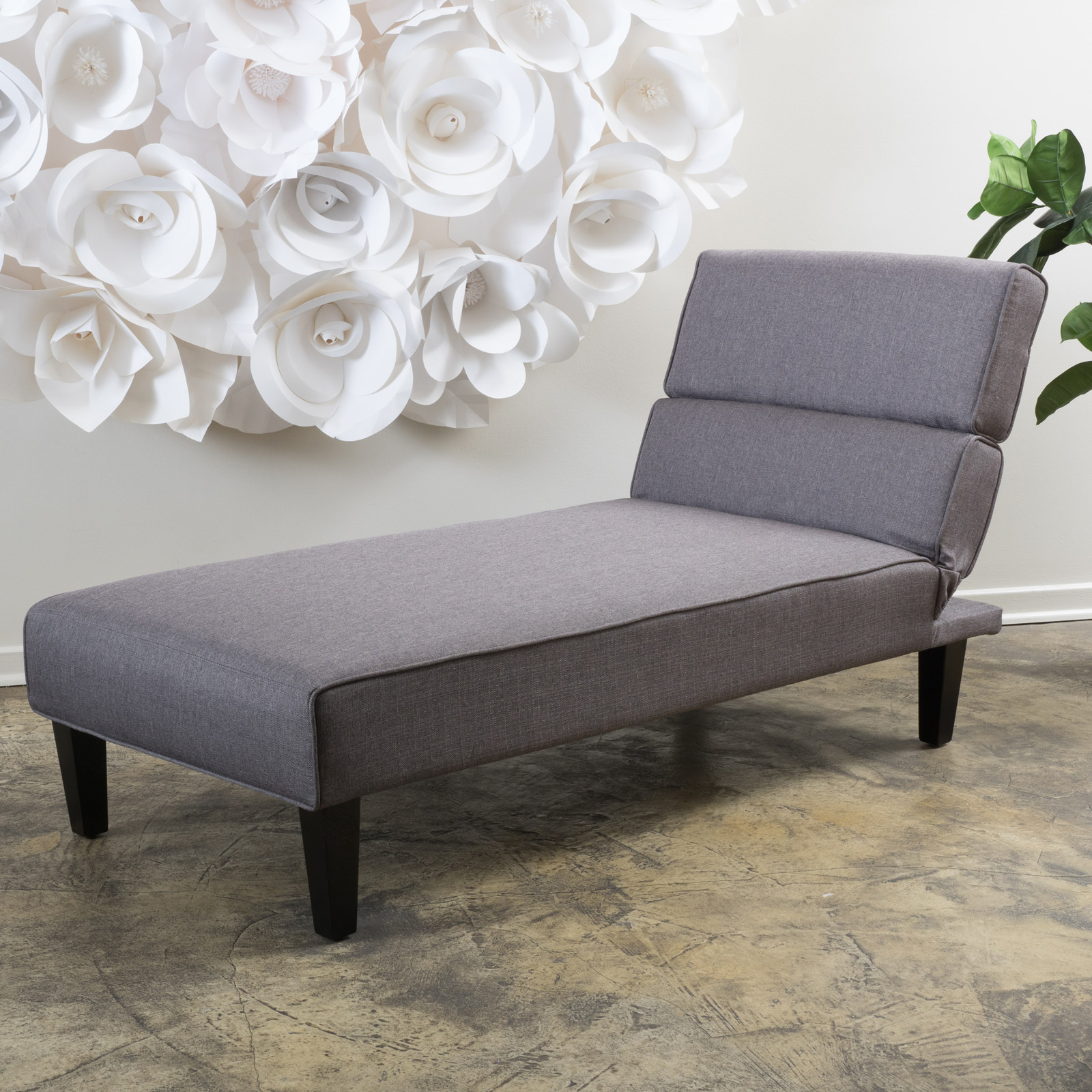 DHP Emily Faux Leather Chaise Lounge