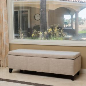 Best Selling Home Dalton Fabric Storage Indoor Bench