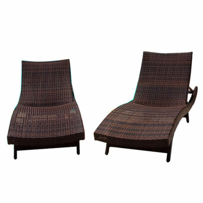 Wicker Multi-brown Outdoor Adjustable Lounges and Nesting...