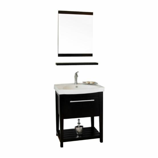 Bellaterra Home Alcala 27.5-in. Single Bathroom Vanity with Optional Mirror