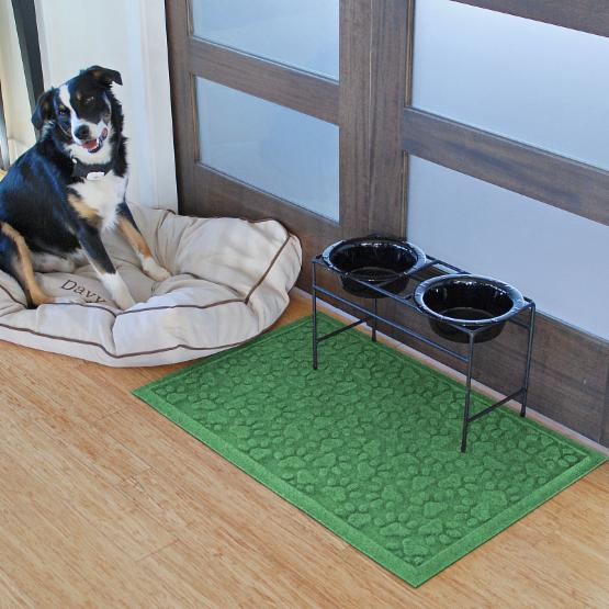 Bungalow Flooring Aqua Shield Scattered Dog Paws Mat