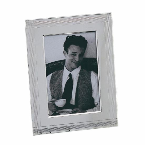 Bey-Berk Silver Plated 4 x 6 in. Picture Frame