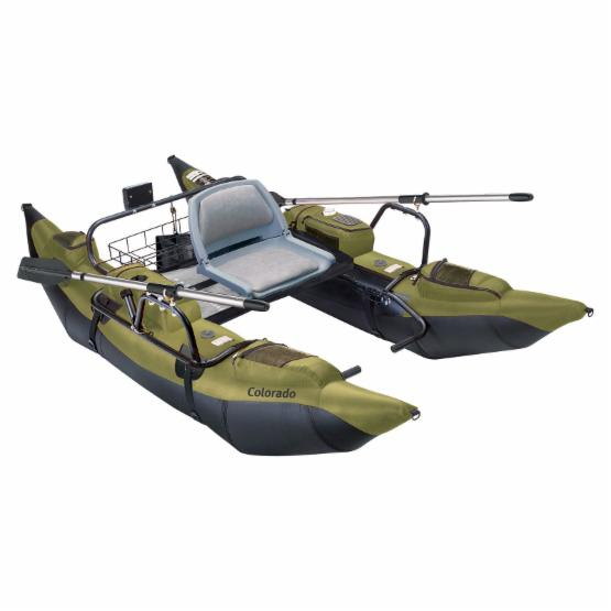 Classic Accessories Colorado 9 ft. Pontoon Boat - Green and Black