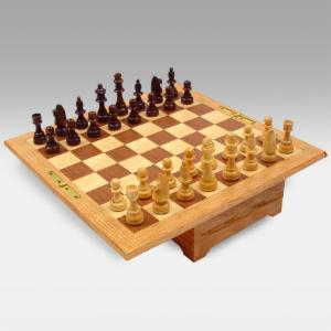 All American Chess & Checkers Set