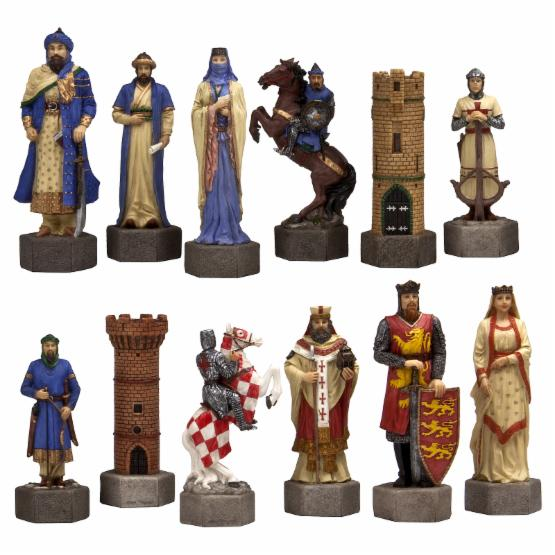 Giant Crusades Hand-Painted Chessmen - 6.875 in. King