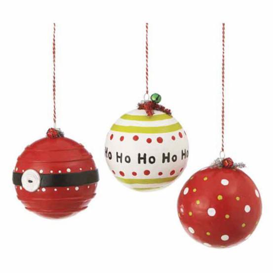 Midwest CBK Jolly Fun Ball Ornaments - Set of 6