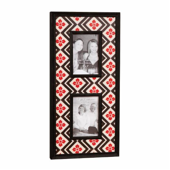 Floral Red Photo Frame - Holds 2 Photos - 9.5W x 20H in. - DO NOT USE
