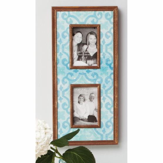 Blue Photo Frame - Holds 2 Photos - 9.5W x 20H in. - DO NOT USE