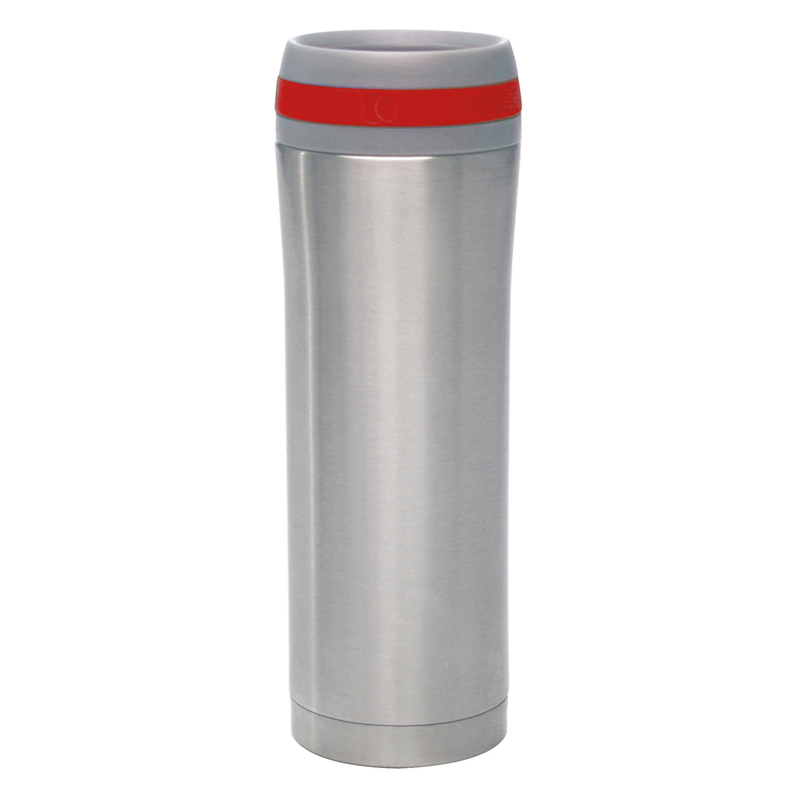 Chantal 15oz. Stainless Steel Travel Mug with Red Band - ...