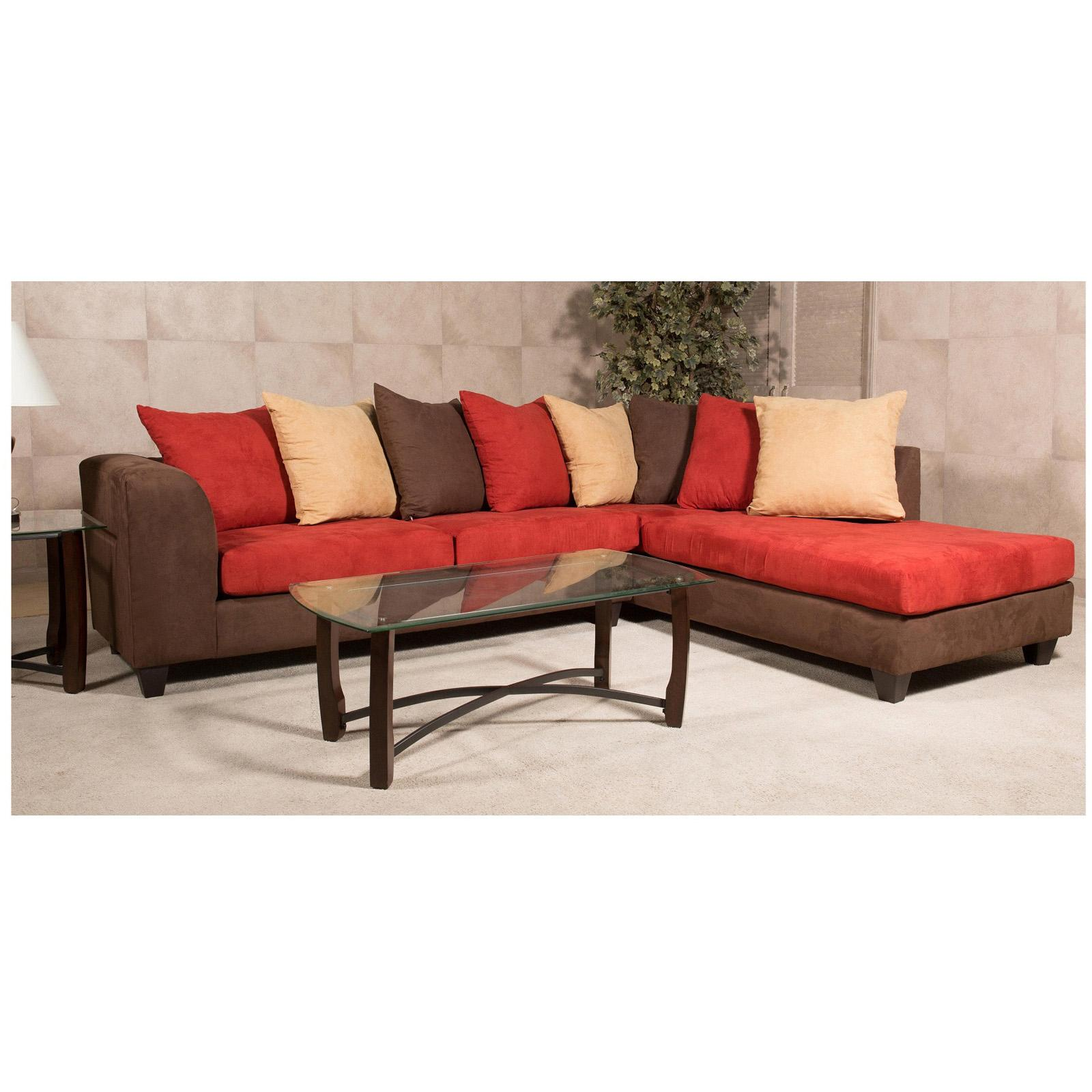 Chelsea Home Marshfield 2 Piece Sectional Sofa With 8 Acc