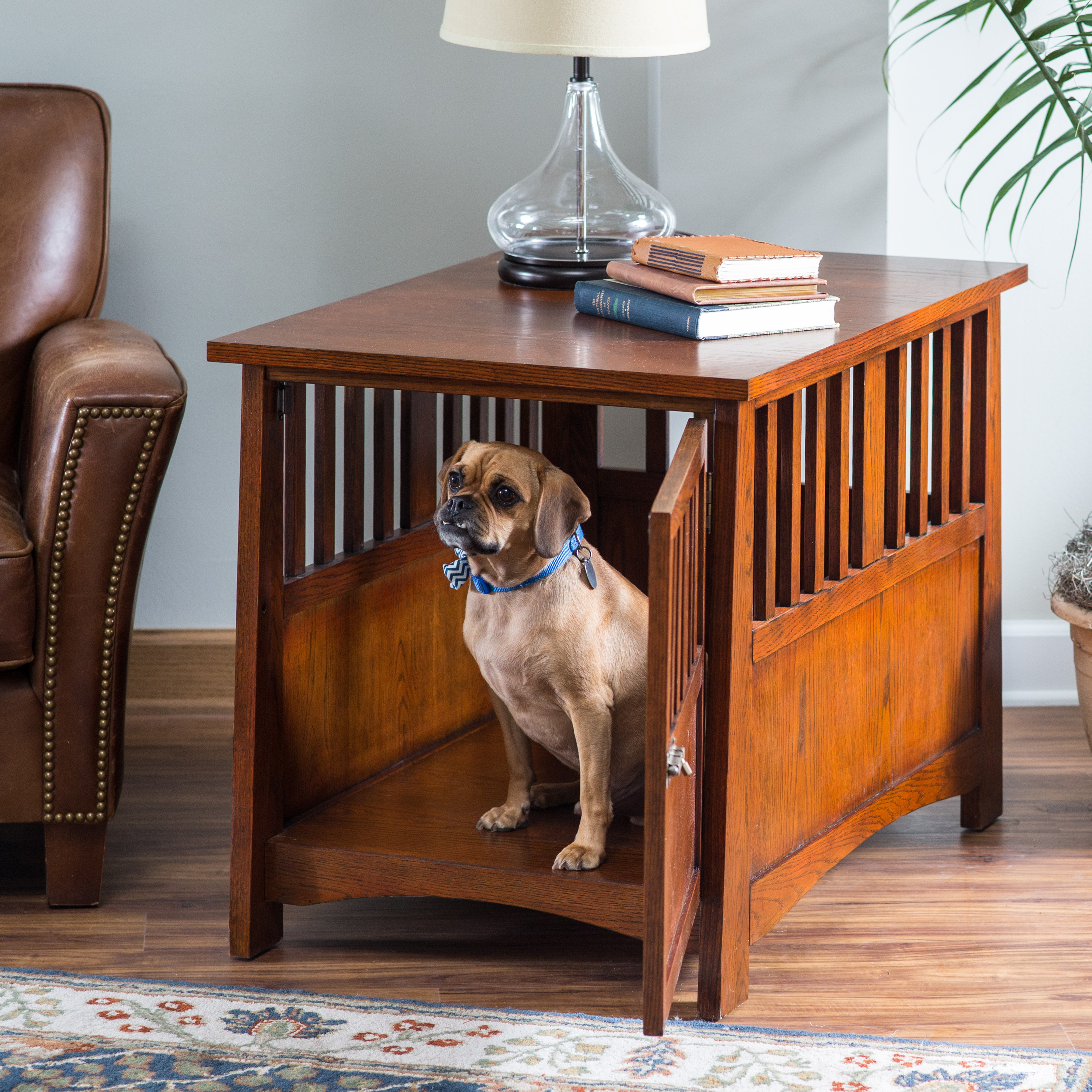 Newport Pet Crate End Table