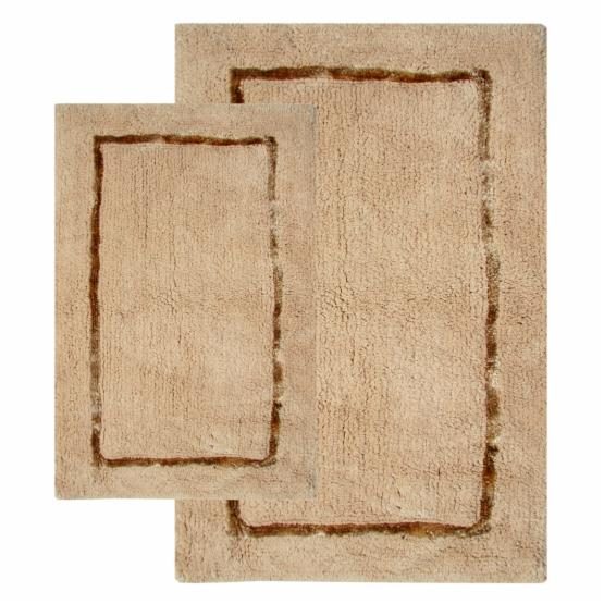 Chesapeake 2 pc. Greenville Bath Rug Set - 21L x 34W in. & 17L x 24W in. - Sand - DO NOT USE