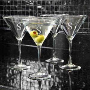Cathys Concepts Personalized Martini Glasses - Set of 4