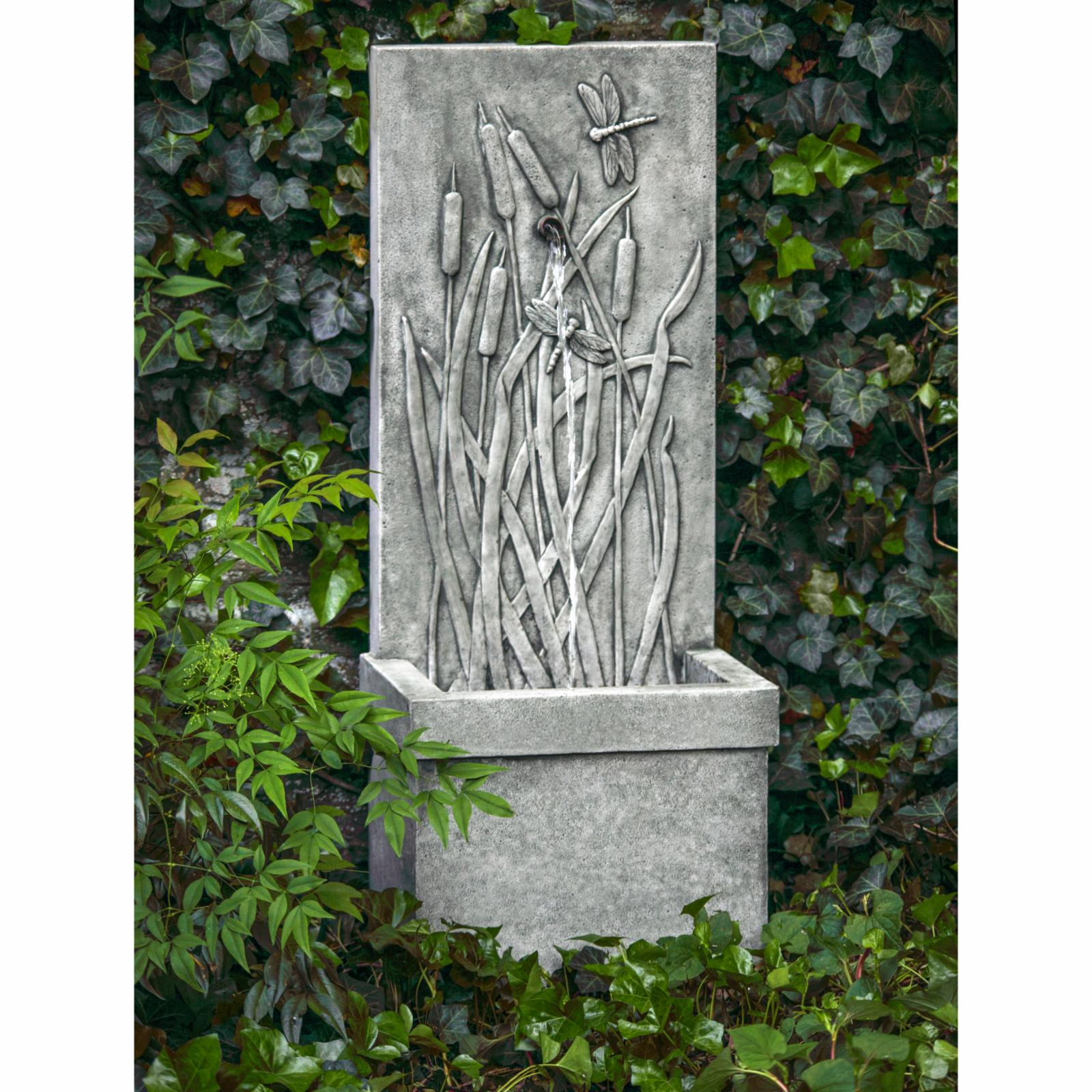 Campania International Dragonfly Wall Outdoor Fountain Co...