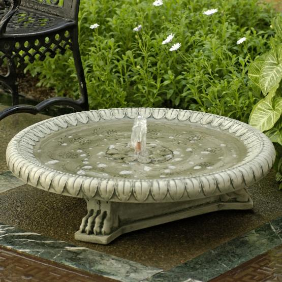 Campania International Longwood Claw-Footed Cast Stone Outdoor Fountain