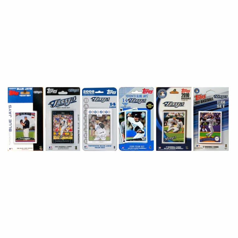 MLB Toronto Blue Jays 6 Different Licensed Trading Card T...