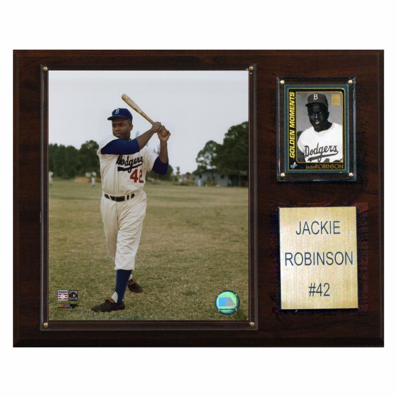 MLB 12 x 15 in. Jackie Robinson Brooklyn Dodgers Player P...