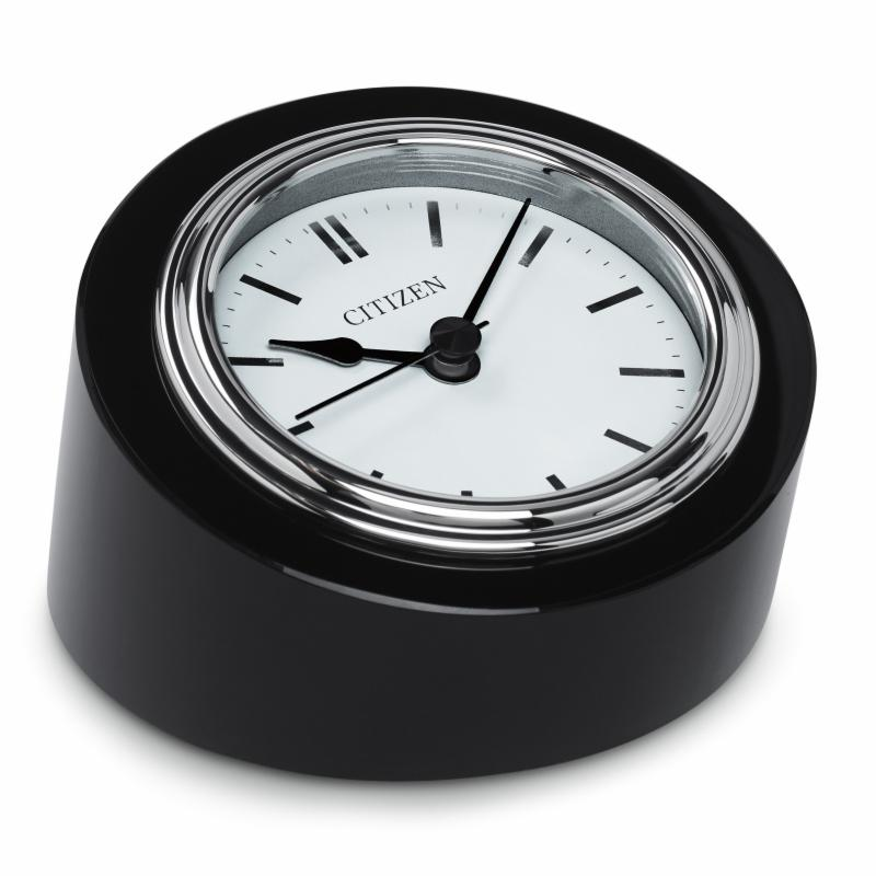 Citizen Clocks Workplace Clock with White Face on Black Crystal Base - CC1005