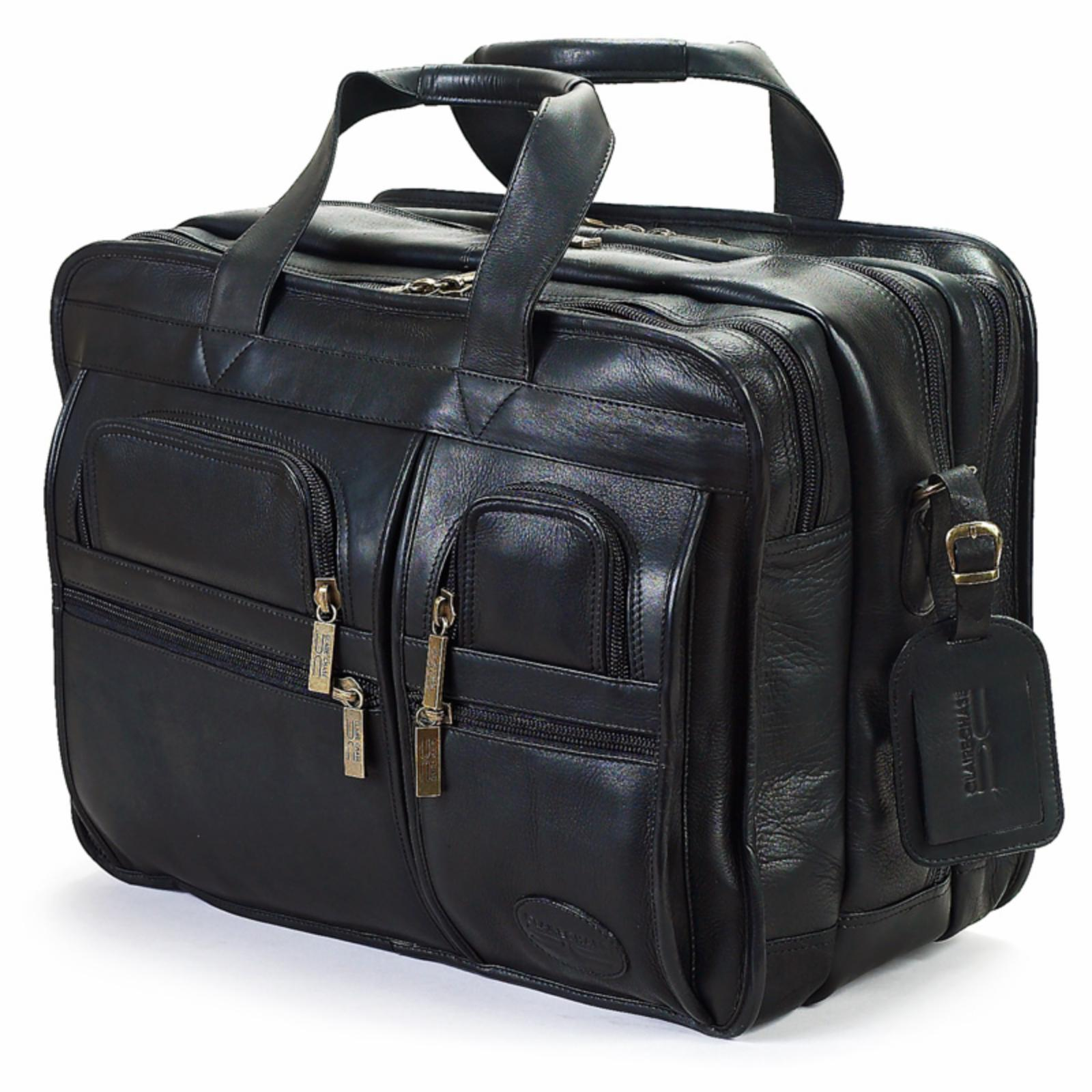 Claire Chase Executive Computer X-Wide Briefcase - Black ...