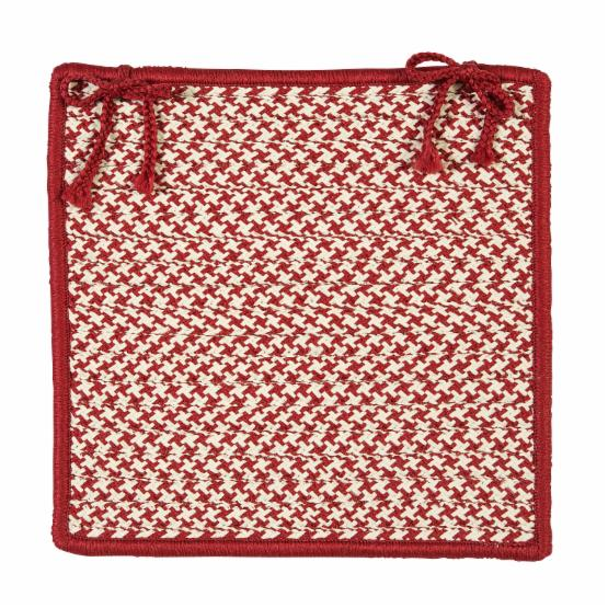 Colonial Mills Outdoor Houndstooth Tweed Chair Pad - 15 x 15 in.