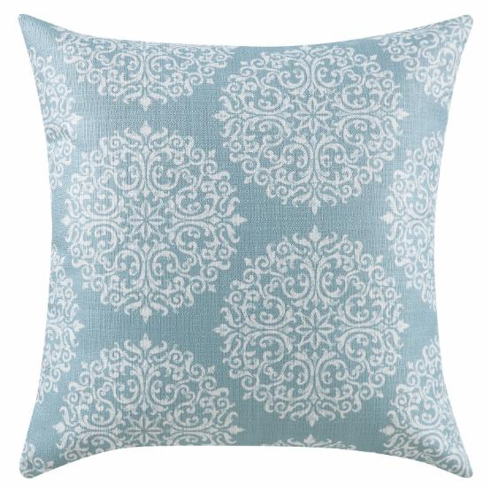 Coaster Furniture Sky Blue/Oatmeal Medallion Accent Pillow