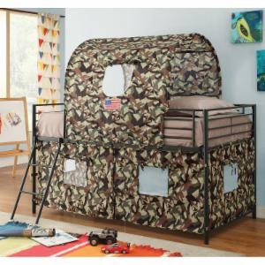 Coaster Furniture Bunks Camouflage Tent Loft Bed