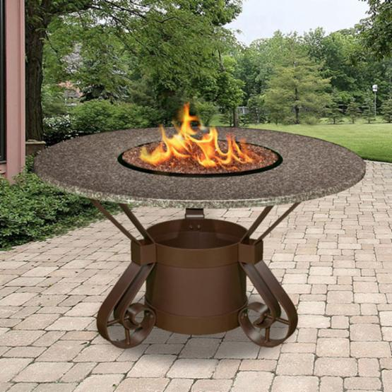 California Outdoor Concepts Solano Round Fire Pit Dining Table