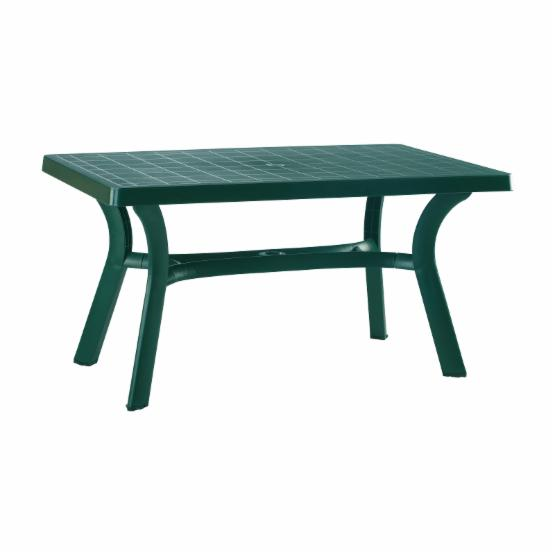 Compamia Sunrise Resin 55 in. Rectangle Patio Dining Table