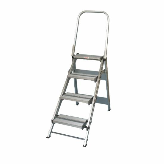 Xtend and Climb 4 Step Folding Step Stool with Handrail