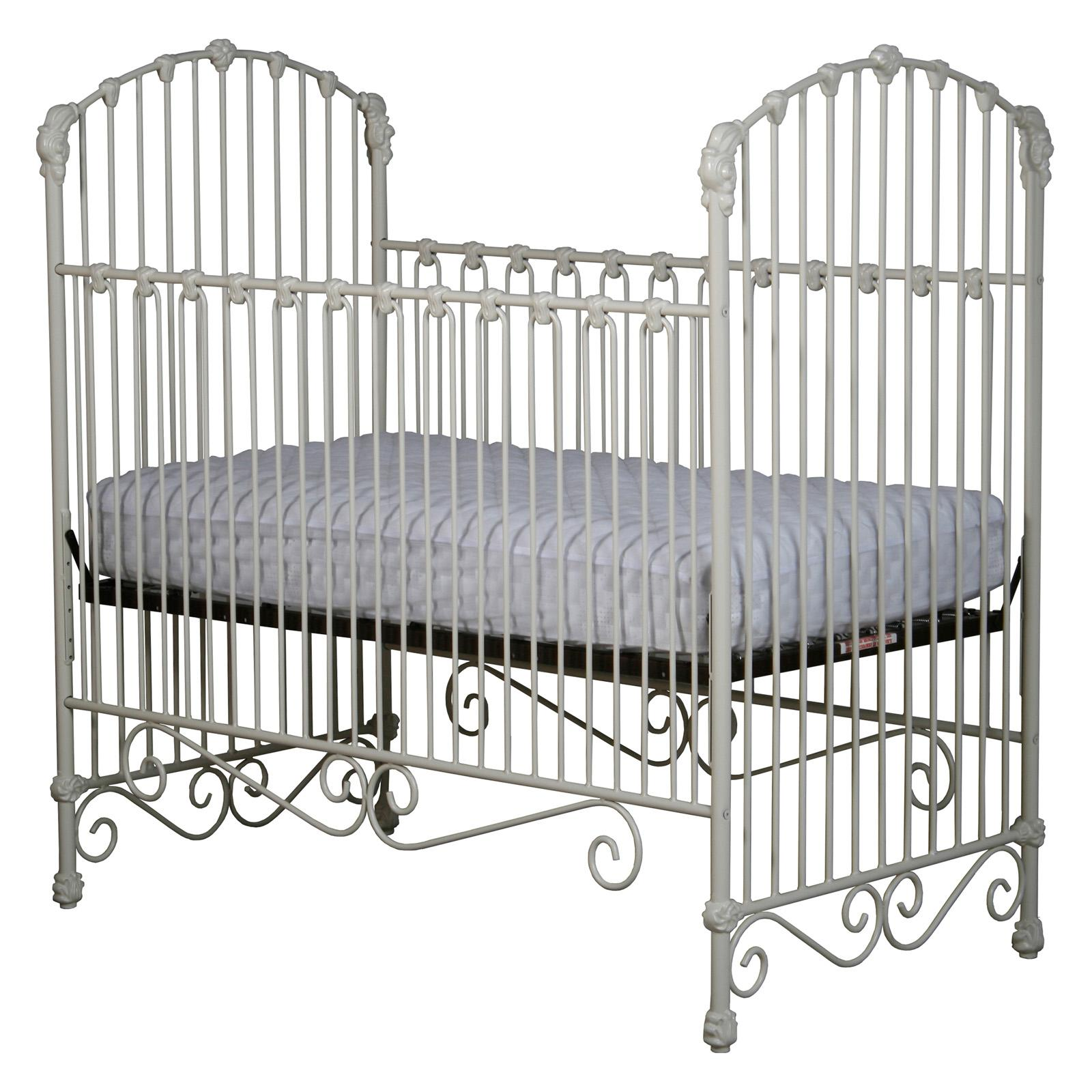 Corsican Iron Crib with Flowers & Curls - 43558-105
