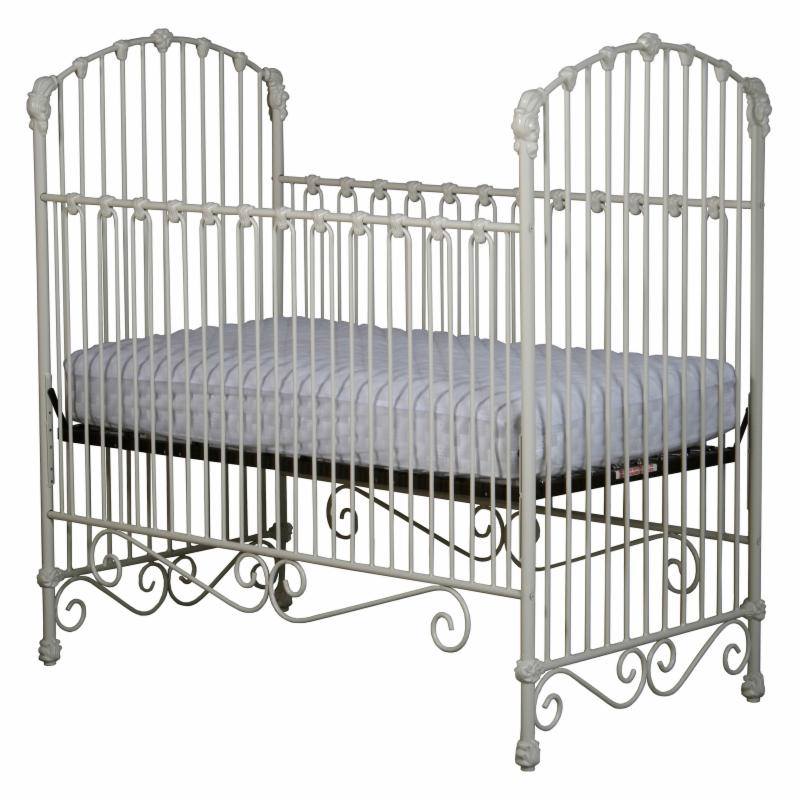Corsican Iron Crib with Flowers & Curls - 43558-101