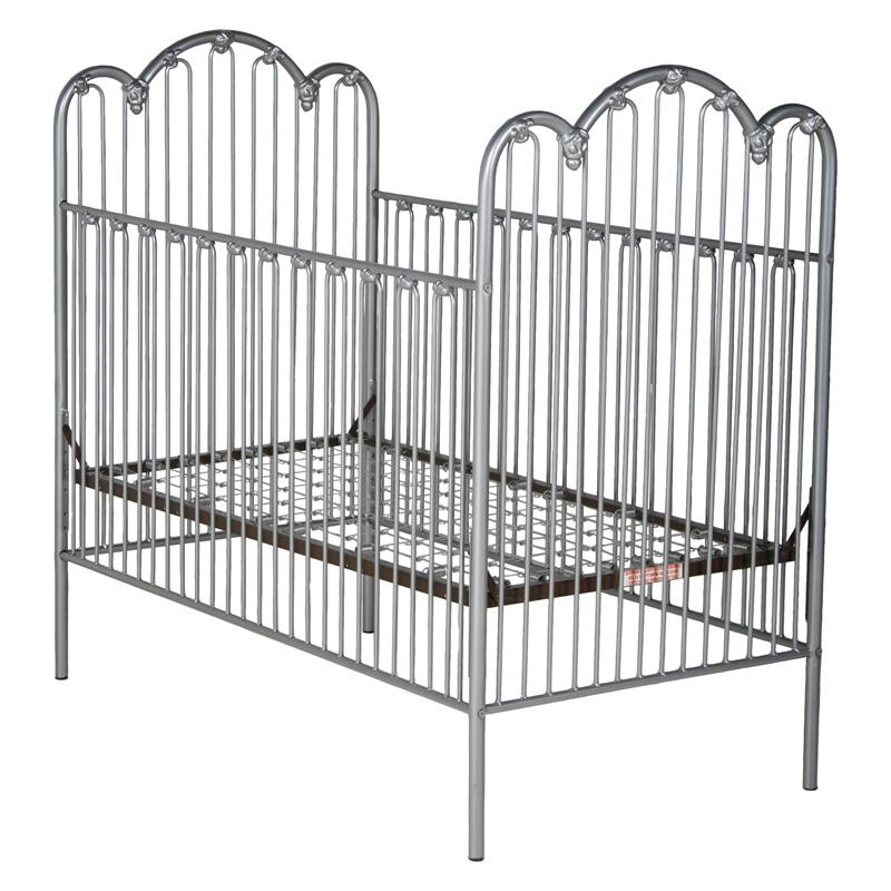 Corsican Scalloped Iron Crib with Flowers - 43594-101