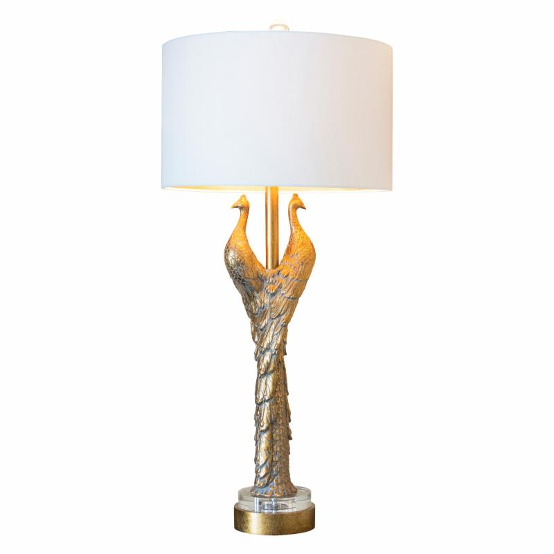Couture Lamps Golden Peacock Table Lamp - CTTL3370