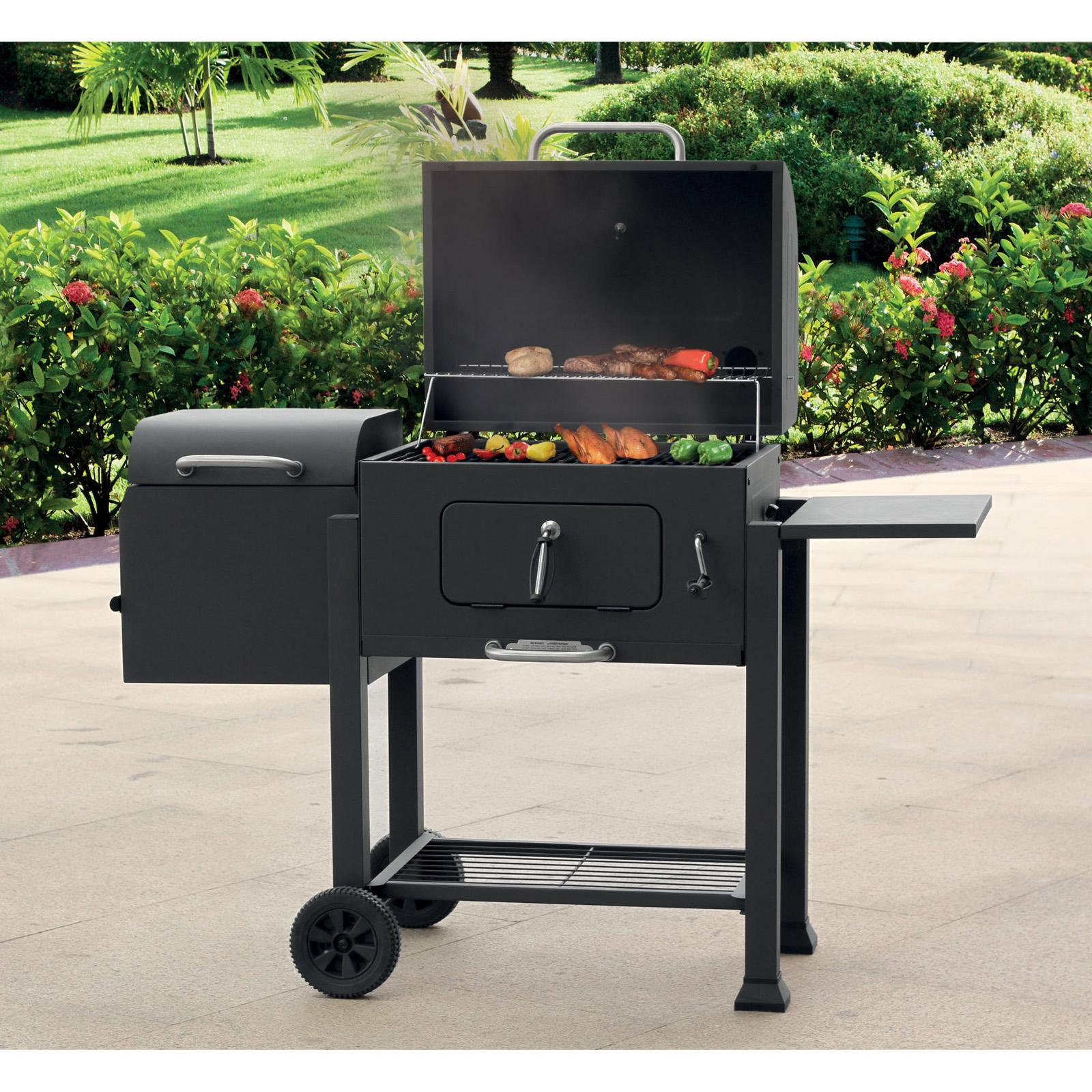 landmann usa vista barbecue charcoal grill with offset. Black Bedroom Furniture Sets. Home Design Ideas