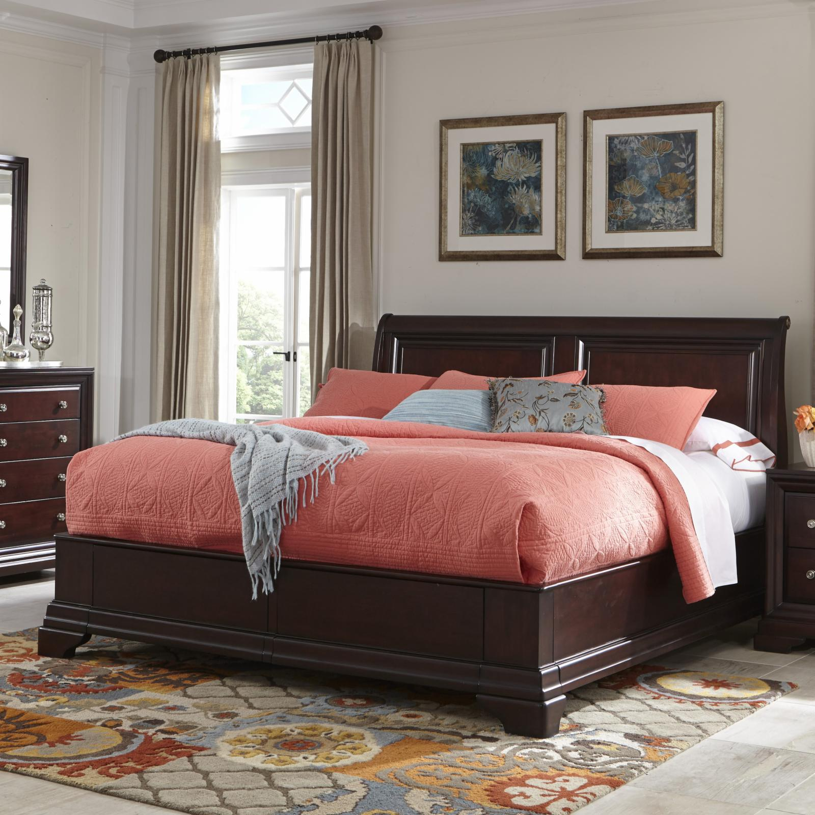 Cresent Fine Furniture Newport Storage Sleigh Bed, Size: ...