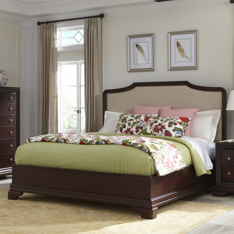 Cresent Fine Furniture Newport Upholstered Storage Bed - ...