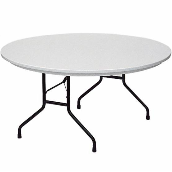 Correll 60 in. Round Commercial Grade Blow Molded Folding Table