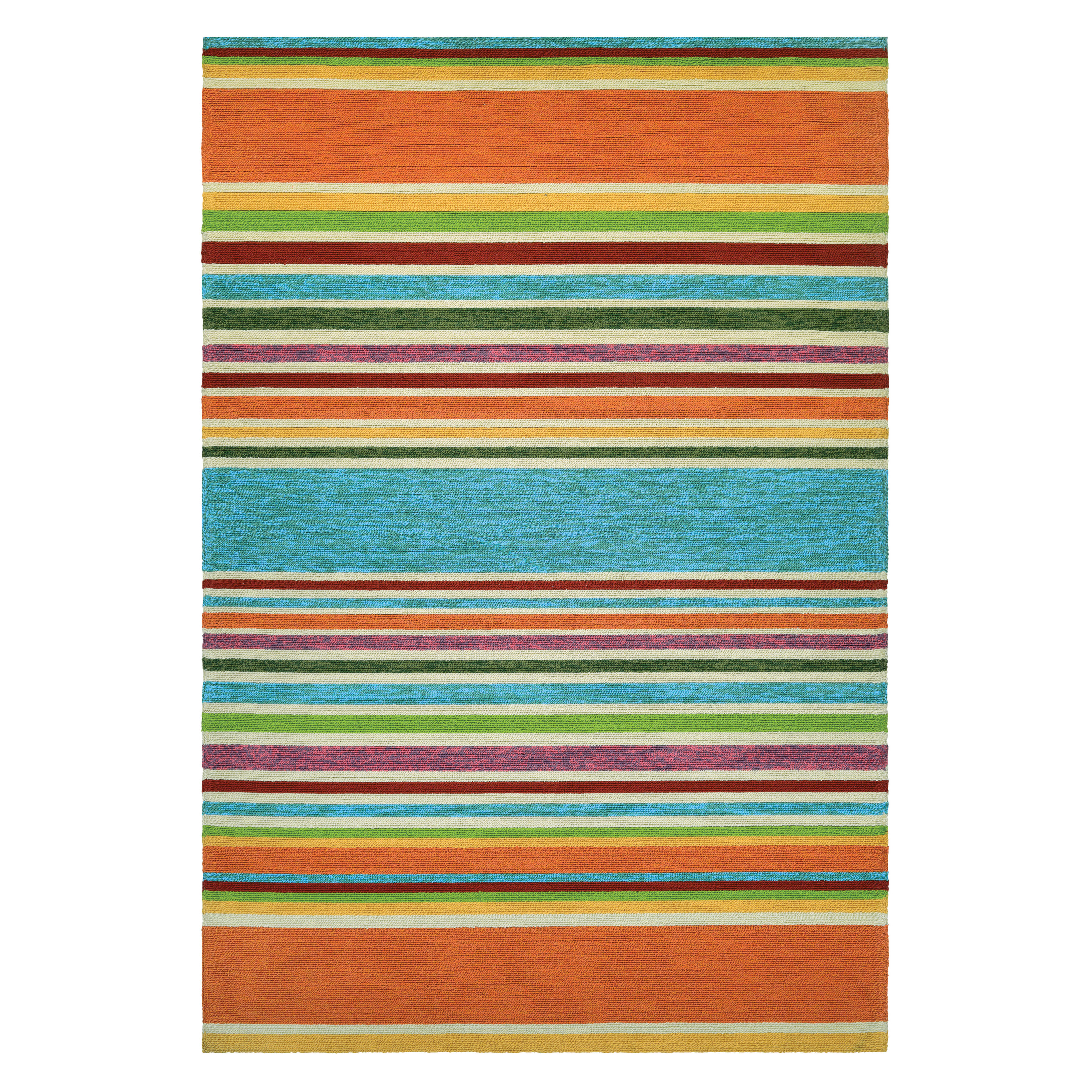 Mohawk Home Avenue Stripe Indoor Outdoor Rug Hayneedle