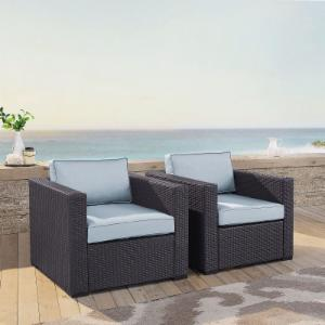 Crosley Furniture Biscayne Resin Wicker Patio Lounge Chairs - Set of 2