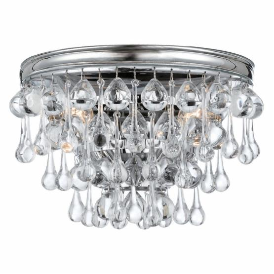 Crystorama 132-CH Calypso Wall Sconce - 10.5W in. - Polished Chrome