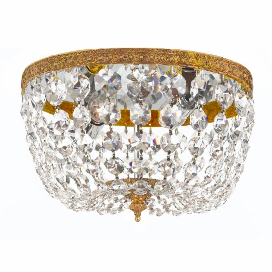 Crystorama 708-OB-CL-MWP Richmond Crystal Basket Ceiling Light - 8W in.